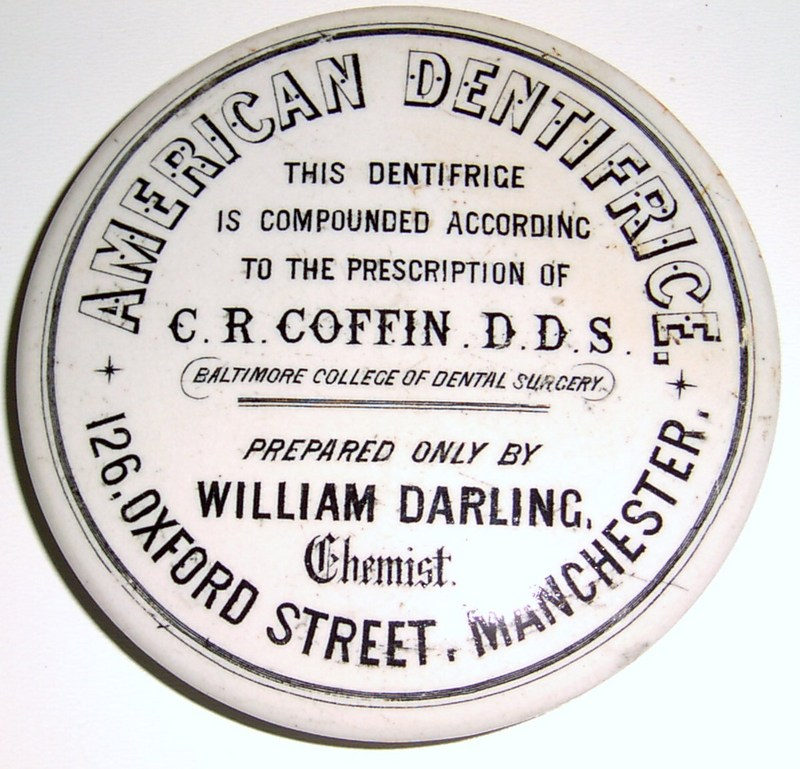 The lids. William Darling, Manchester, American Dentifrice