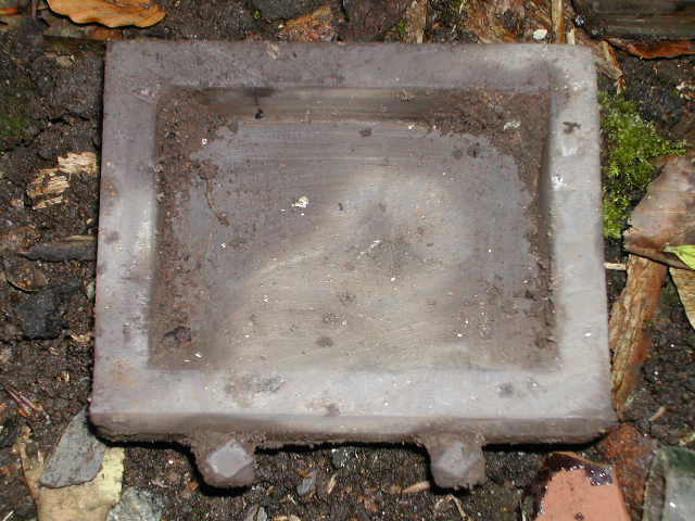 This appears to be a Welsh slate drawer, maybe from a little Welsh dresser?