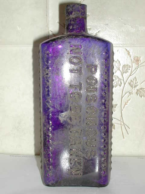 An unusual blue poison (front)
